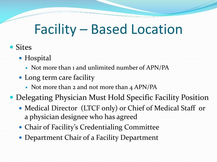 Facility – Based Location