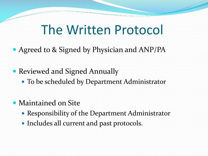 The Written Protocol