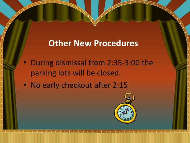 Other New Procedures