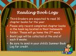 reading book logs