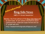 ring side news nbe s 3 rd grade newsletter