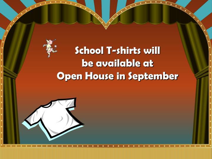 School T-shirts will