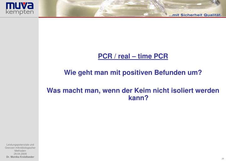 PCR / real – time PCR
