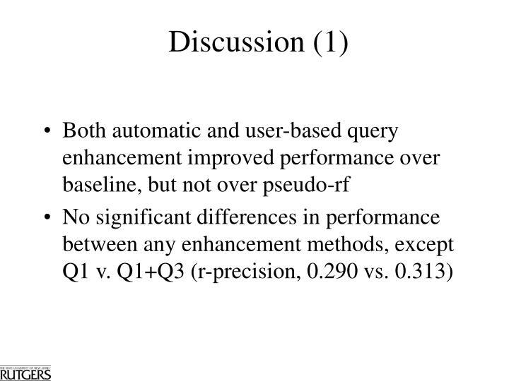 Discussion (1)
