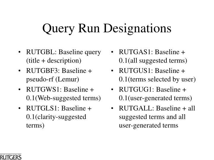 RUTGBL: Baseline query (title + description)