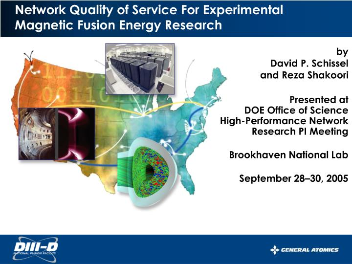 Network Quality of Service For Experimental