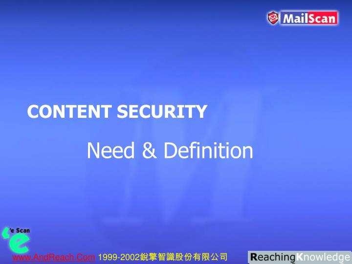 CONTENT SECURITY