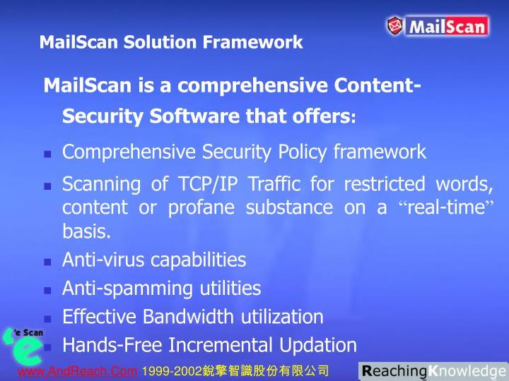 MailScan Solution Framework
