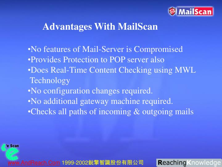 Advantages With MailScan