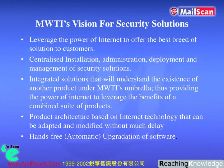 MWTI's Vision For Security Solutions