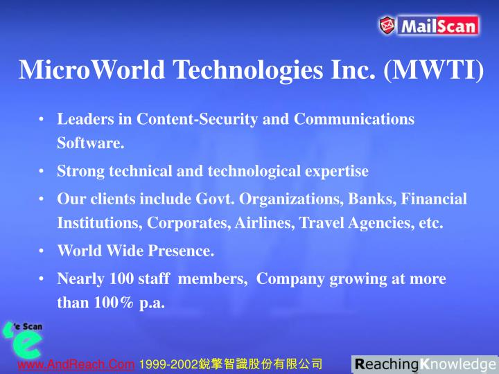 MicroWorld Technologies Inc. (MWTI)