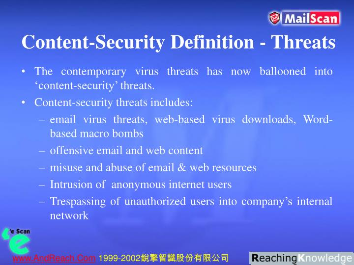 Content-Security Definition - Threats