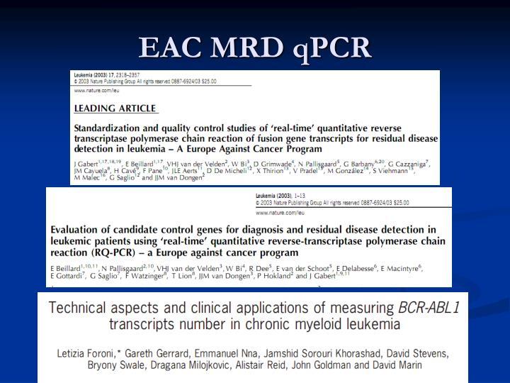 EAC MRD qPCR
