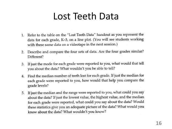 Lost Teeth Data