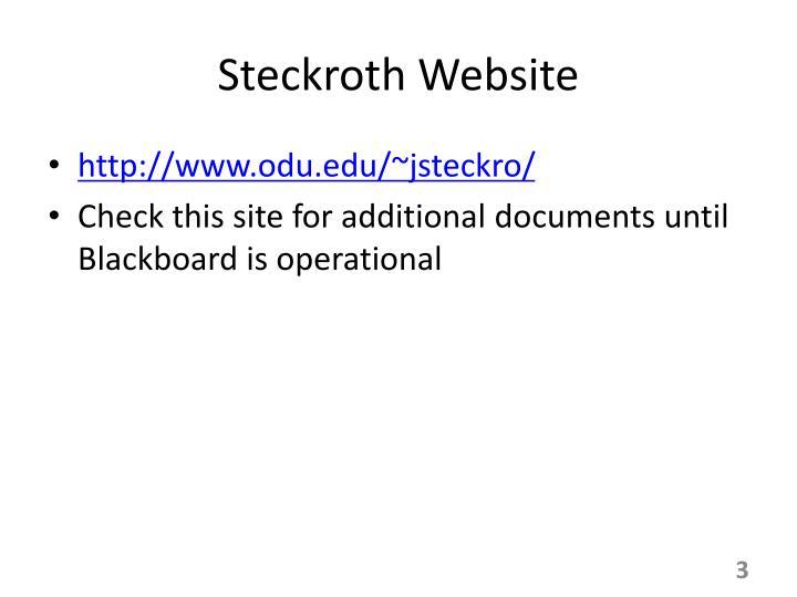 Steckroth Website