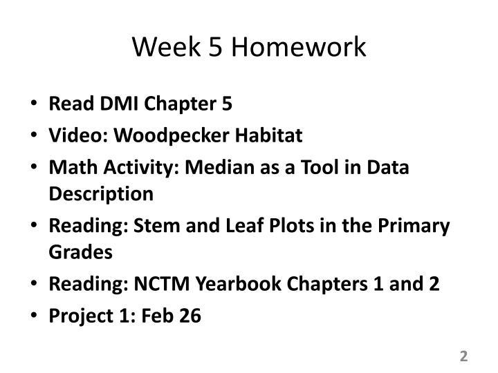 Week 5 Homework