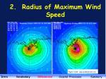 2 radius of maximum wind speed