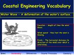 coastal engineering vocabulary