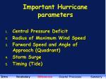important hurricane parameters