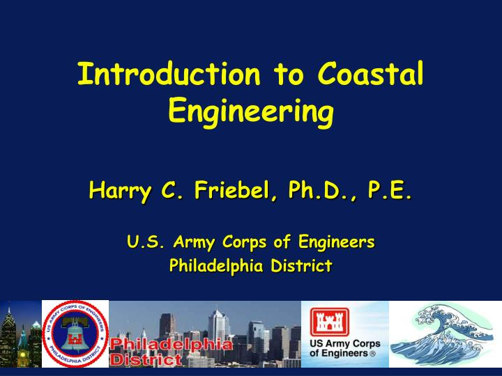 Introduction to coastal engineering