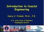 introduction to coastal engineering