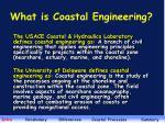 what is coastal engineering