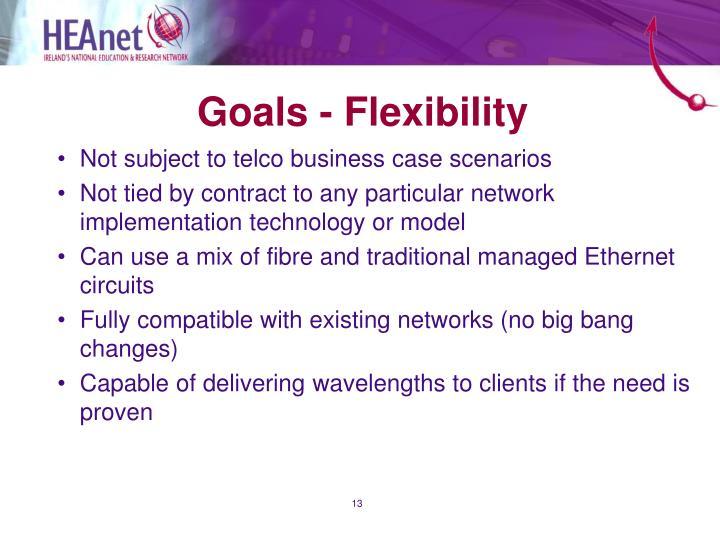 Goals - Flexibility