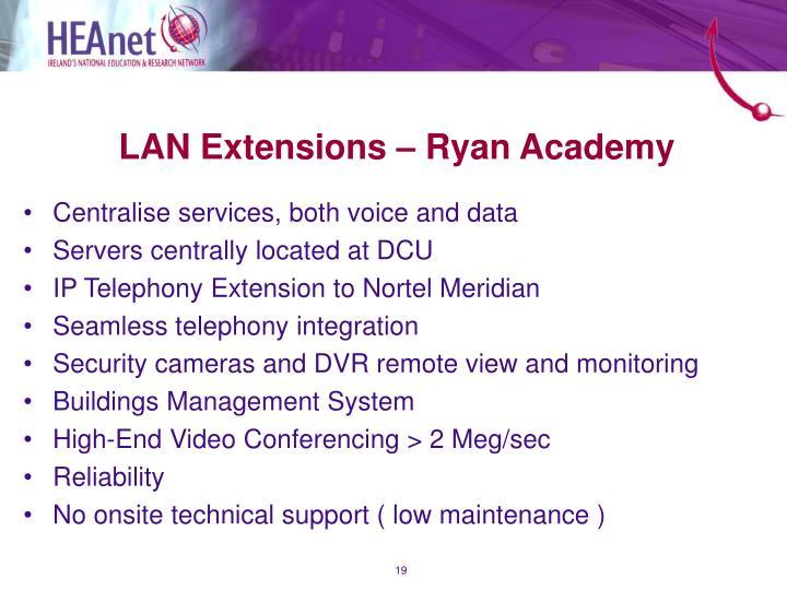 LAN Extensions – Ryan Academy
