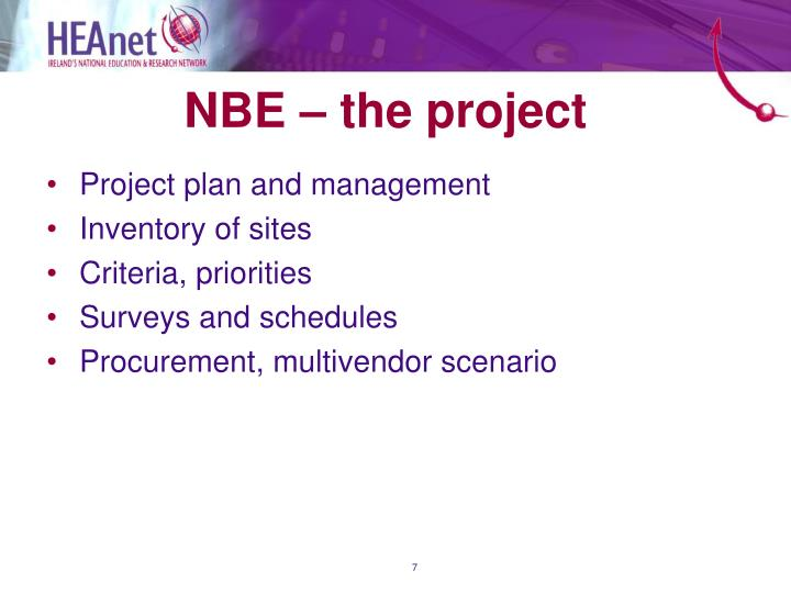 NBE – the project