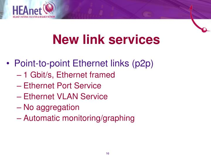 New link services