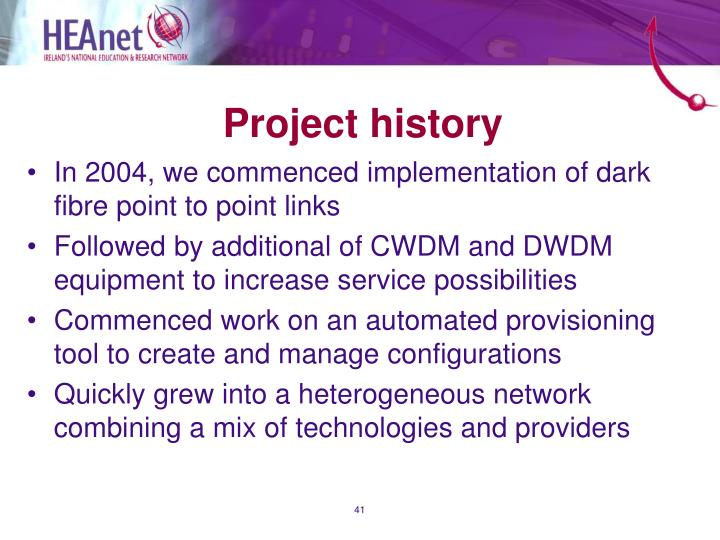 Project history