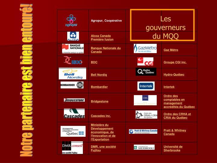 Les gouverneurs du MQQ