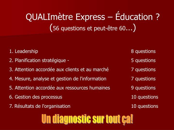 QUALImètre Express – Éducation ?