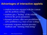 advantages of interactive applets