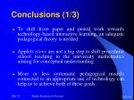 conclusions 1 3