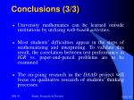 conclusions 3 3