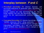 interplay between p and c