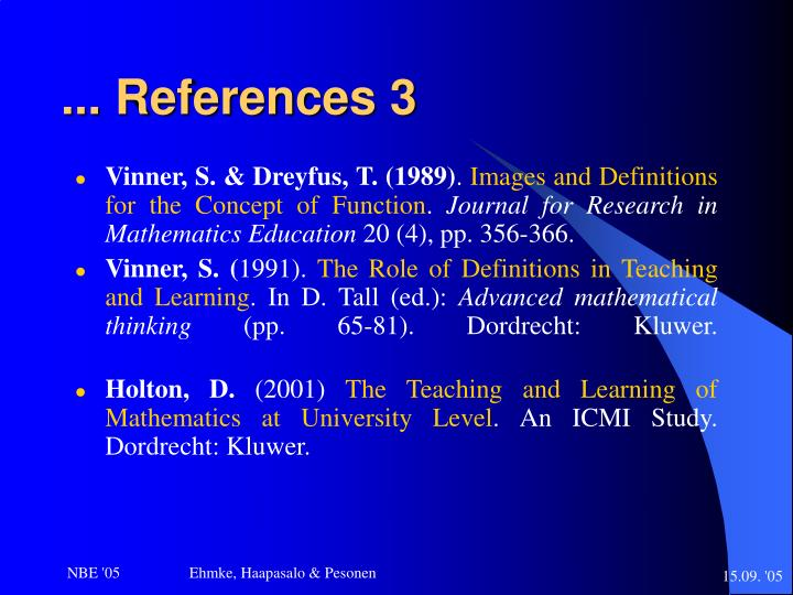 ... References 3