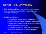 school vs university