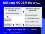 utilising modem theory