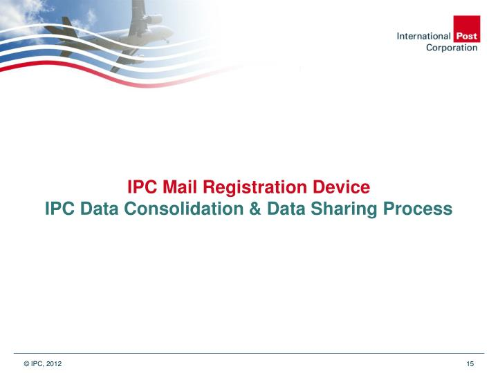 IPC Mail Registration Device
