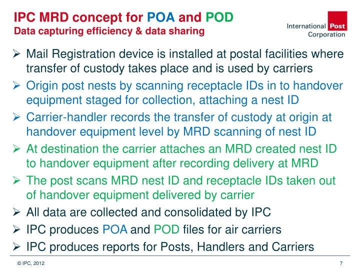 IPC MRD concept for