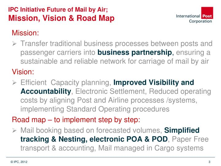 IPC Initiative Future of Mail by Air;