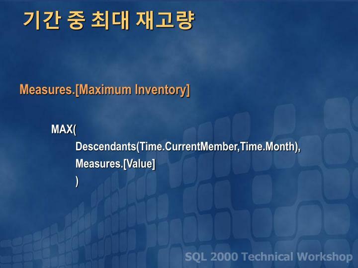 Measures.[Maximum Inventory]