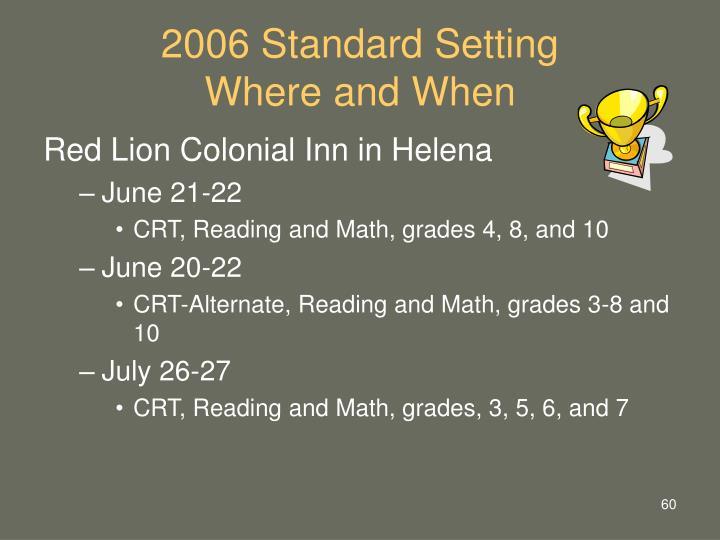 2006 Standard Setting