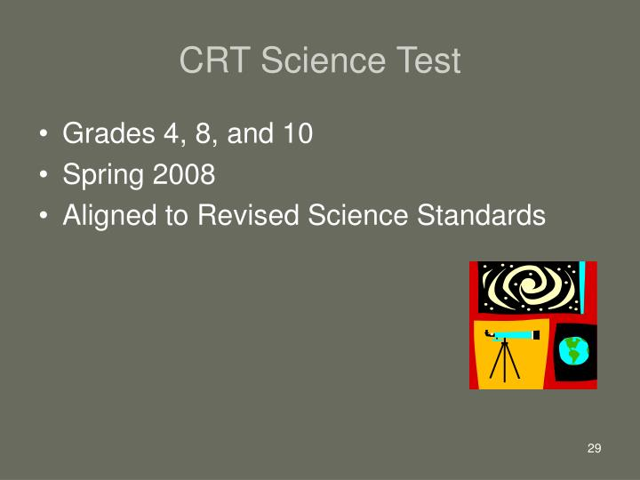 CRT Science Test