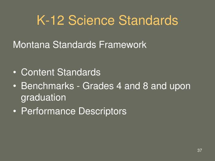K-12 Science Standards