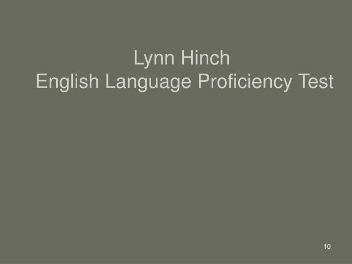 Lynn Hinch