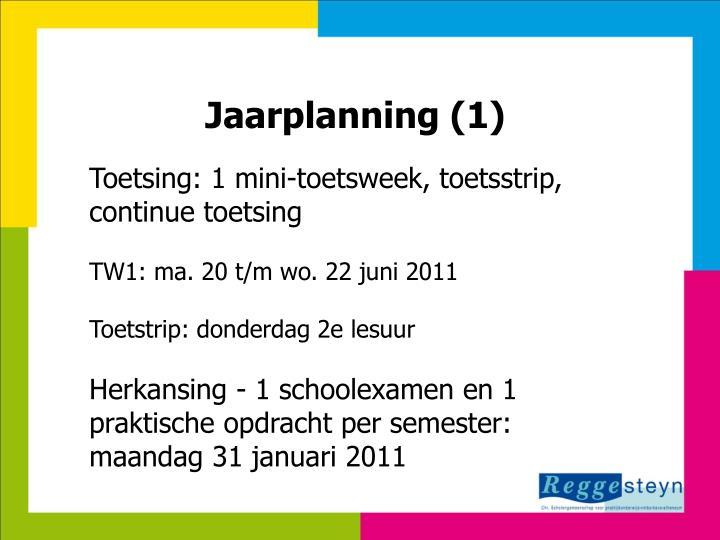 Jaarplanning (1)