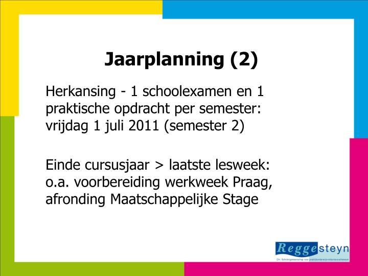 Jaarplanning (